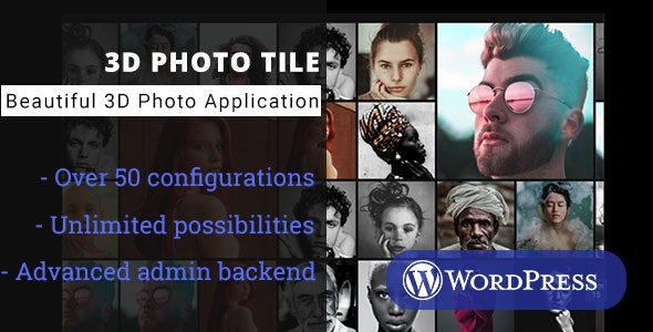 3D Photo Tile - WordPress Media Plugin - CodeCanyon Item for Sale