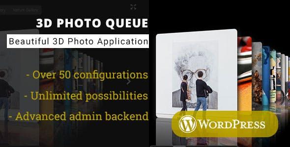 3D Photo Queue - WordPress Media Plugin
