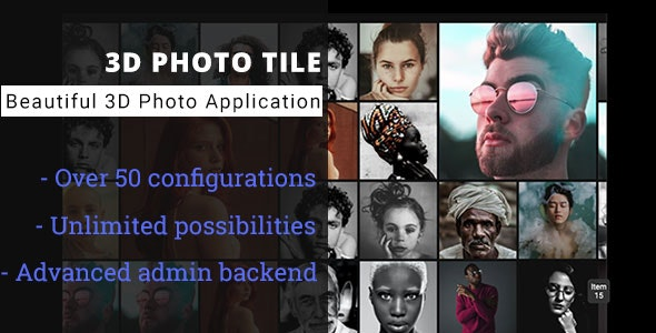 3D Photo Tile - Advanced Media Gallery - CodeCanyon Item for Sale