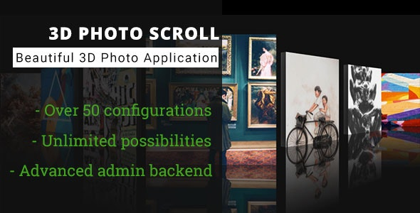 3D Photo Scroll - Advanced Media Gallery - CodeCanyon Item for Sale