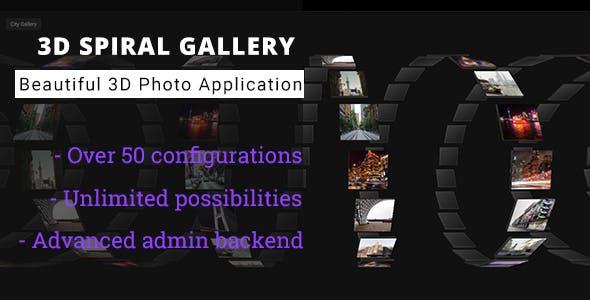 3D Spiral Gallery - Advanced Media Gallery