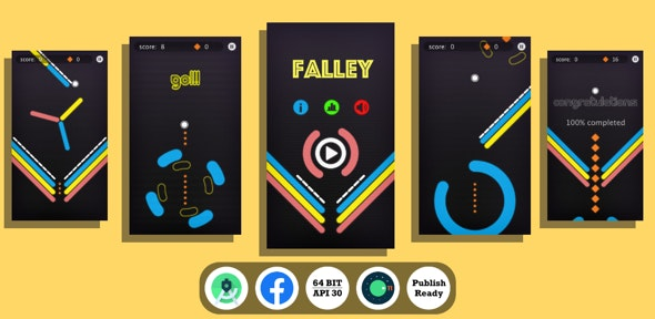 Falley : (Android Studio+Facebook Ads+Inapp+Leaderboard+ready to publish) 6 february 2021