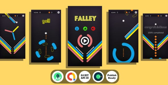 Falley : (Android Studio+Admob+Reward Video+Inapp+Leaderboard+ready to publish)