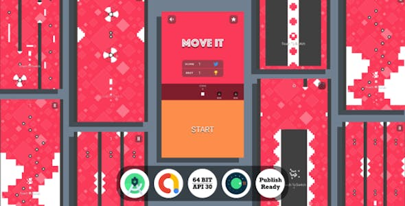 Move It : (Android Studio+Admob+Reward Video+Inapp+Leaderboard+ready to publish)