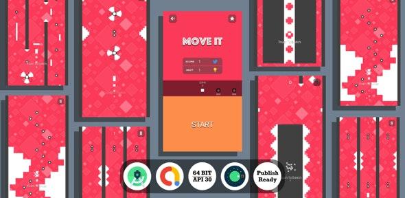 Move It : (Android Studio+Admob+Reward Video+Inapp+Leaderboard+ready to publish) 6 February 2021