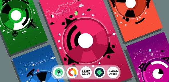 Moon Escape v2.0 – Android Studio + Admob + Reward Video + Inapp + Leaderboard + ready to publish