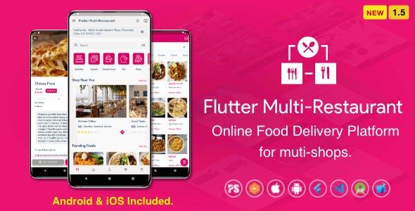 Flutter Multi-Restaurant (FoodPanda, GrabFood - Mobile Food Delivery Platform For iOS & Android) 1.5