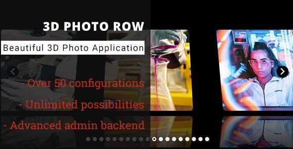 3D Photo Row - Advanced Media Gallery