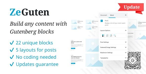 ZeGuten —  Gutenberg Blocks - CodeCanyon Item for Sale