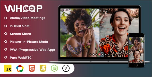 Whoop - One to One Video Meetings, Chat, Screen Share & PWA