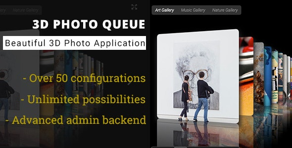 3D Photo Queue - Advanced Media Gallery - CodeCanyon Item for Sale