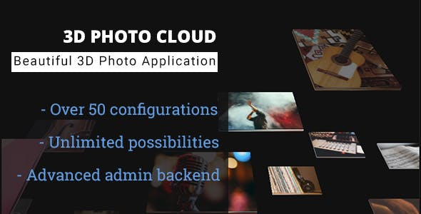 3D Photo Cloud - Advanced Image Gallery