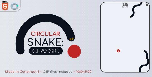 Circular Snake: Classic - HTML5 Casual Game