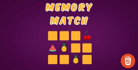 Memory Match - HTML5 Matching Game