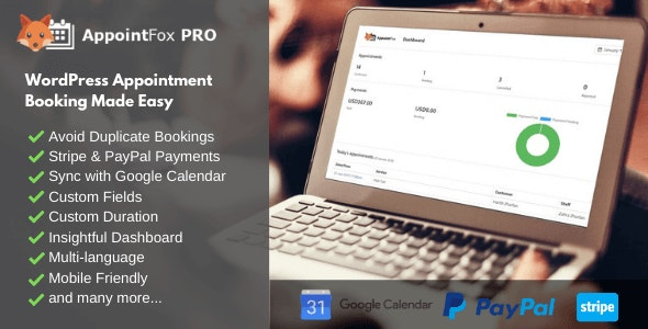 AppointFox PRO - WordPress Appointment Booking Plugin - CodeCanyon Item for Sale