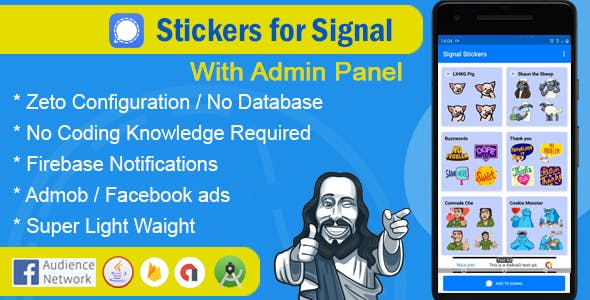 Stickers for signal app with admin panel