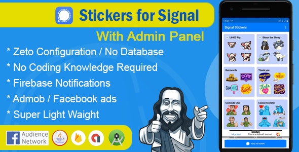 Stickers for signal app with admin panel - CodeCanyon Item for Sale