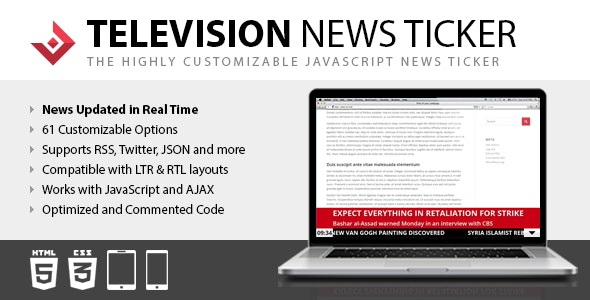 Television News Ticker - CodeCanyon Item for Sale