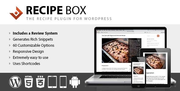 Recipe Box - Recipe Plugin for WordPress - CodeCanyon Item for Sale