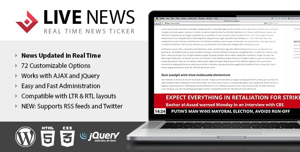 Live News - Real Time News Ticker