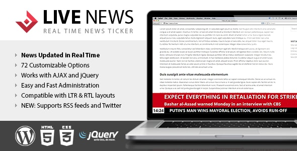 Live News - Real Time News Ticker - CodeCanyon Item for Sale