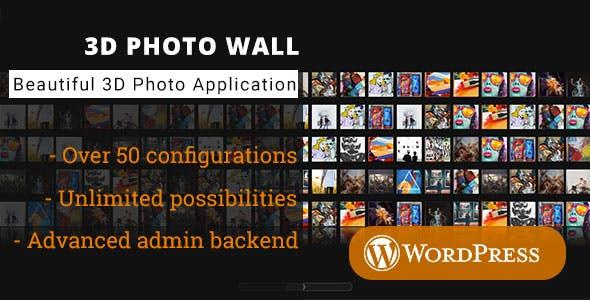 3D Photo Wall - WordPress Media Plugin
