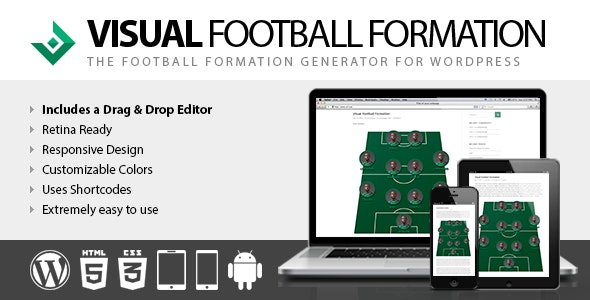 Visual Football Formation Vertical Edition - CodeCanyon Item for Sale