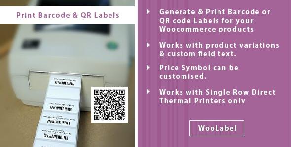 QR Codes & Barcode Generator Label Printing Plugin