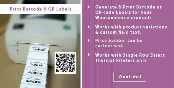 QR Codes & Barcode Generator Label Printing Plugin - CodeCanyon Item for Sale