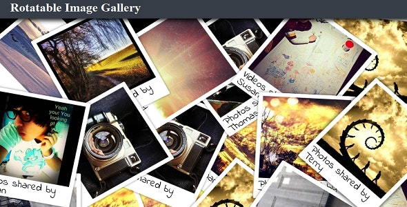 Rotatable Image Gallery - CodeCanyon Item for Sale