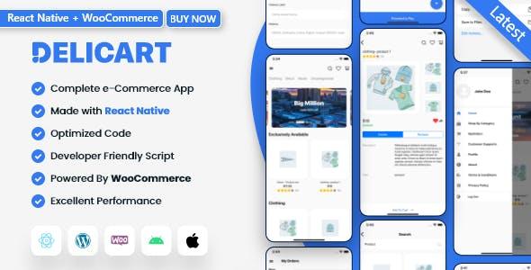 WooCommerce React Native Full App for Ecommerce - Delicart