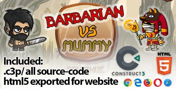 Barbarian VS Mummy HTML5 Game - Construct 3 Source-code