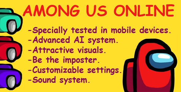 Among Us Online (C3P + CAPX + HTML5 + APK) - CodeCanyon Item for Sale