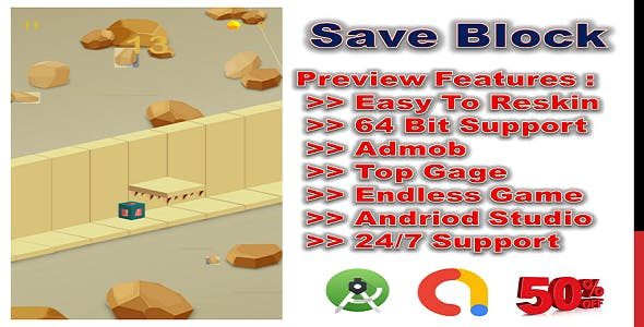 Save Block (compete game+admob+android)