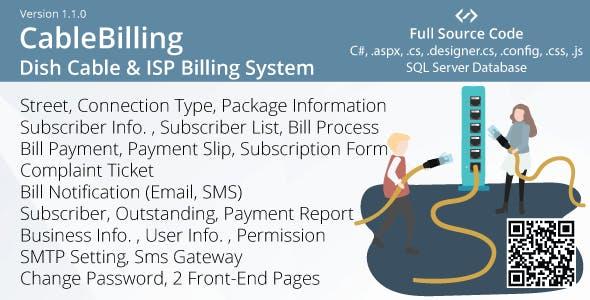 Dish Cable & ISP Billing System (Asp.NET C#, Ajax, MSSQL)