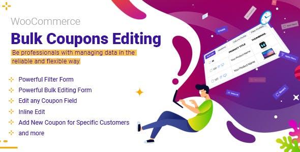 WooCommerce Bulk Coupons Editing