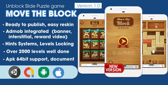 Move The Block - Unblock Game Unity Complete