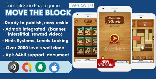 Move The Block - Unblock Game Unity Complete - CodeCanyon Item for Sale