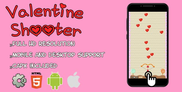 ValentineShooter - HTML5 game(CAPX)