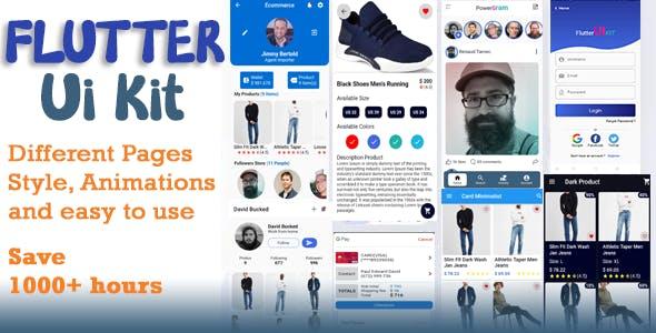 Material Design - Flutter Ui Kit Android