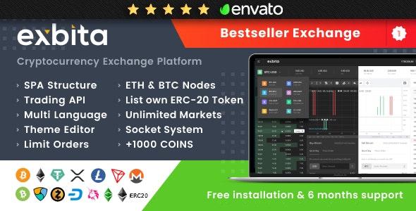 Exbita v2.2.2 – Cryptocurrency Exchange Script
