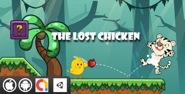 The Lost Chicken Unity Platformer Game With 10 Level For Android and iOS   Admob ad