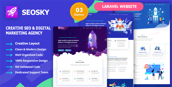 SEOsky - Laravel SEO & Digital Marketing Agency Website Script - CodeCanyon Item for Sale