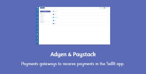 Adyen & Paystack payments gateways for SellIt