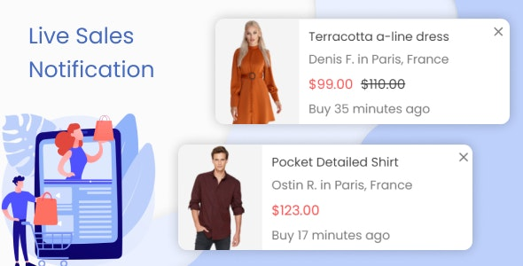 Live Sales Notification. Recent Order Popups - CodeCanyon Item for Sale