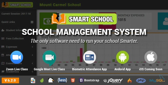 Smart School : School Management System - CodeCanyon Item for Sale