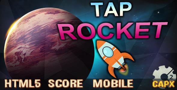 Tap Rocket2 (C2, HTML5) Game. - CodeCanyon Item for Sale