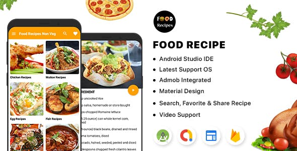 Food Recipe - Android (Kotlin) with Admin Panel