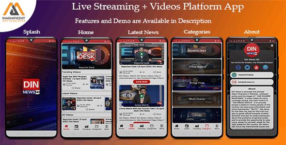 Live Streaming/Videos/Movies Platform
