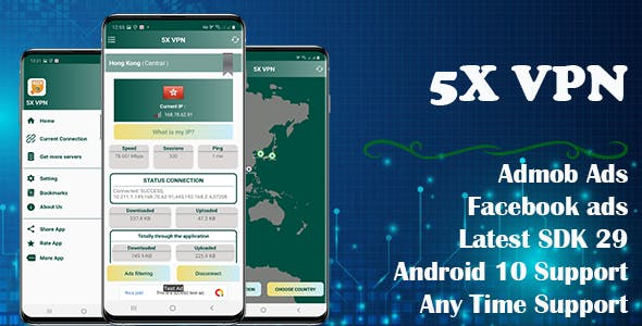 5X VPN (Android 10 Supported)
